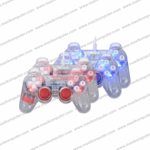 Gamepad Mikuso GP-USB011 Dual Shock Double Controller Transparent
