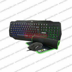Keyboard Mouse NYK KC-200 Artemis Rainbow Backlight + Mousepad