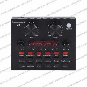 Sound Card V8 Live Sound Card Audio Mixer USB
